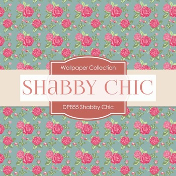 Digital Papers - Shabby Chic (DP855)