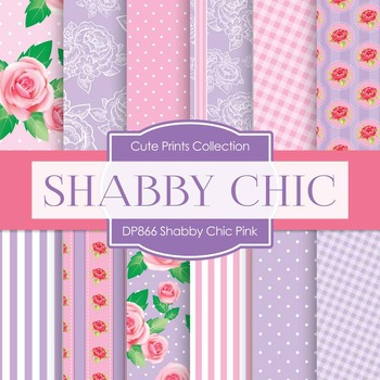 Digital Papers - Shabby Chic Pink (DP866)