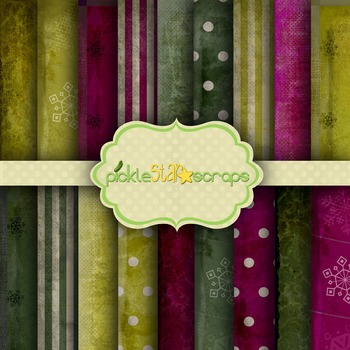 Digital Papers Shabby Christmas Patterns