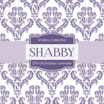 Digital Papers - Shabby Lavender (DP4134)