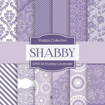 Digital Papers - Shabby Lavender (DP4134)