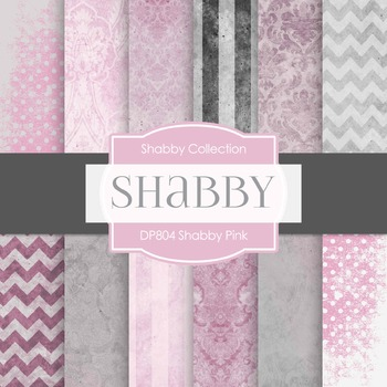 Digital Papers - Shabby Pink (DP804)