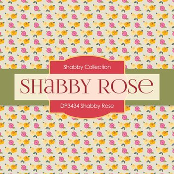 Digital Papers - Shabby Rose (DP3434)