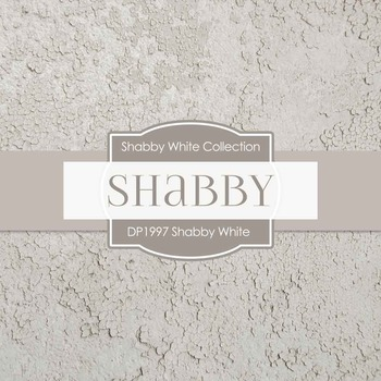 Digital Papers - Shabby White (DP1997)