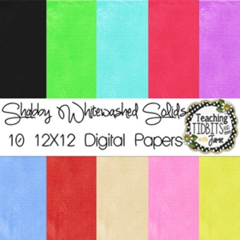 Digital Papers - Shabby Whitewashed Solids {Personal or Commercial Use}