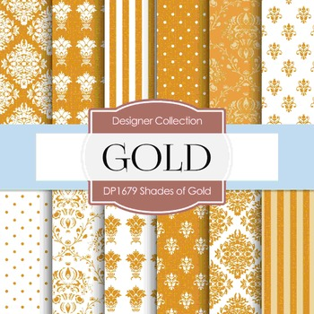 Digital Papers - Shades Of Gold (DP1679)