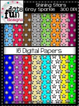 Digital Papers: Shining Black Stars