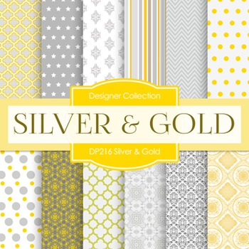 Digital Papers -  Silver And Gold (DP216)
