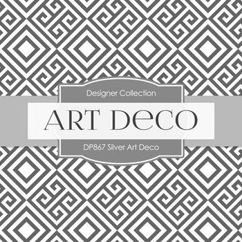 Digital Papers - Silver Art Deco (DP867)