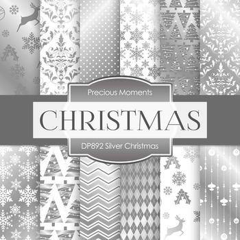 Digital Papers - Silver Christmas (DP892)