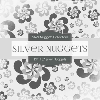 Digital Papers - Silver Nuggets (DP1157)