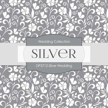 Digital Papers - Silver Wedding (DP3712)