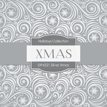 Digital Papers - Silver Xmas (DP4221)