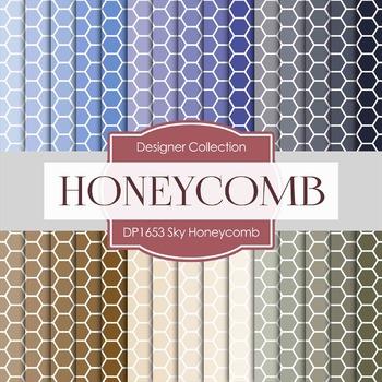 Digital Papers - Sky Honeycomb (DP1653)