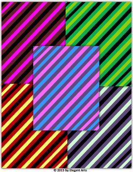 Digital Papers - Slanted / Diagonal Colorful Stripes
