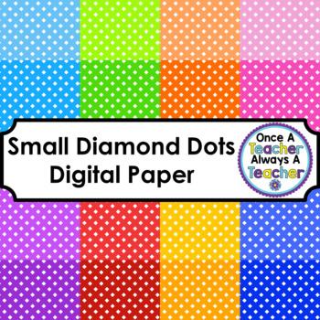 Digital Papers - Small Diamond Dots - Set 1