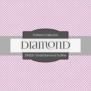 Digital Papers - Small Diamond Outline (DP6231)