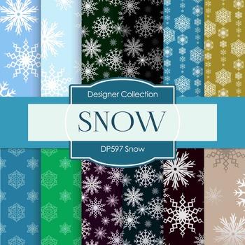 Digital Papers - Snow (DP597)