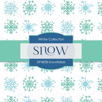 Digital Papers - Snowflakes  (DP4838)