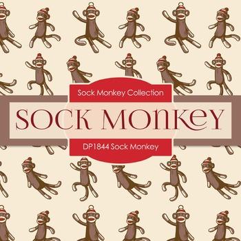 Digital Papers - Sock Monkey (DP1844)