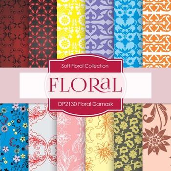 Digital Papers - Soft Floral Damask (DP2130)
