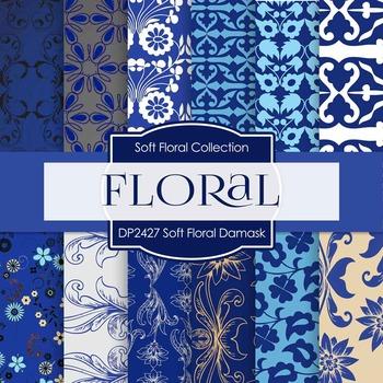 Digital Papers - Soft Floral Damask (DP2427)
