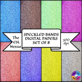 Speckled Bands Digital Papers
