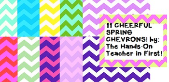 Digital Papers: Spring Cheerful Chevrons! {for commercial use!}