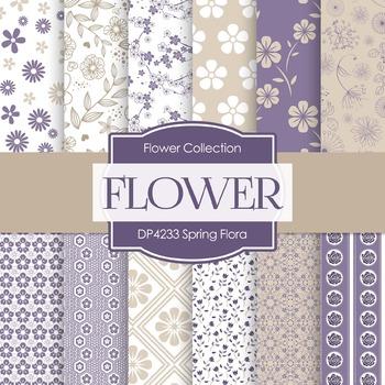 Digital Papers - Spring Flora (DP4233)