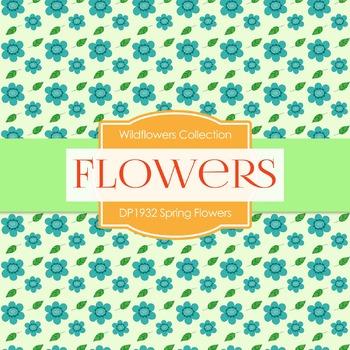 Digital Papers - Spring Flowers (DP1932)