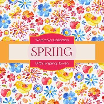 Digital Papers - Spring Flowers (DP6216)