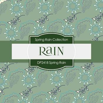 Digital Papers - Spring Rain (DP2418)