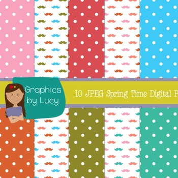 Digital Papers Spring Time 10 JPEG Images {Personal & Commercial Use}