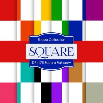 Digital Papers - Square Rainbow (DP4175)