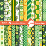 Digital Papers, St. Patrick's Day Celtic and Irish Digital Papers, AMB-827