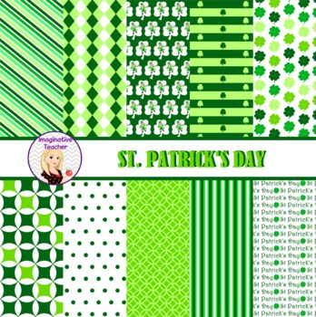 Digital Papers - St Patricks Day