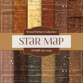 Digital Papers - Star Map (DP6389)