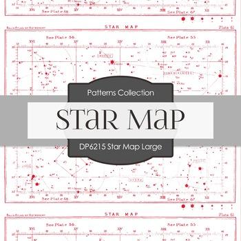 Digital Papers - Star Map Large (DP6215)