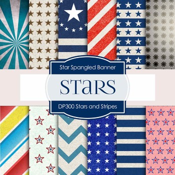 Digital Papers - Stars And Stripes (DP300)