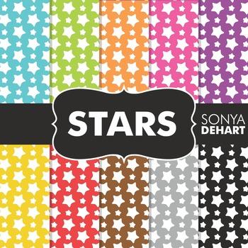 Digital Papers - Stars Pattern
