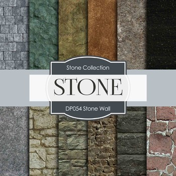 Digital Papers - Stone Wall (DP054)