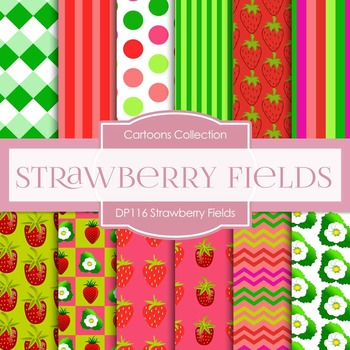 Digital Papers - Strawberry Fields (DP116)