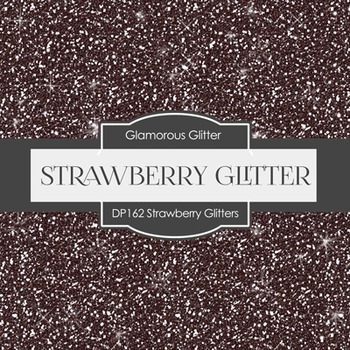 Digital Papers - Strawberry Glitters (DP162)