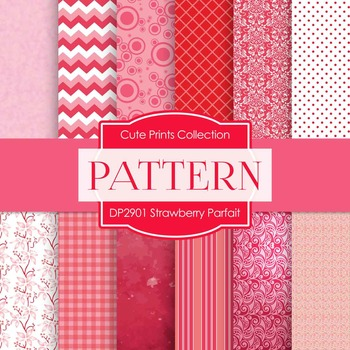 Digital Papers - Strawberry Parfait (DP2901)