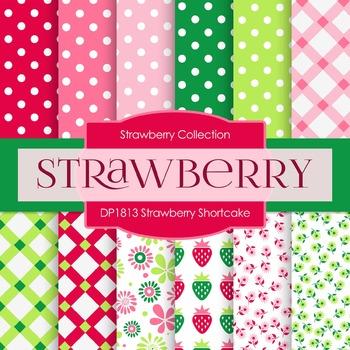 Digital Papers - Strawberry Shortcake (DP1813)