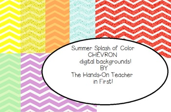 Digital Papers: Summer Chevrons! {for commercial use!}