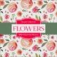 Digital Papers - Summer Flowers (DP4145)