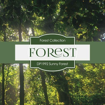 Digital Papers - Sunny Forest (DP1992)