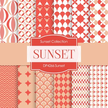 Digital Papers - Sunset (DP4266)