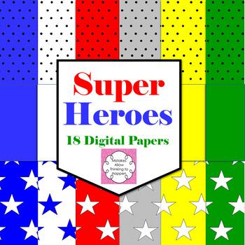 Digital Papers Super Heroes Theme